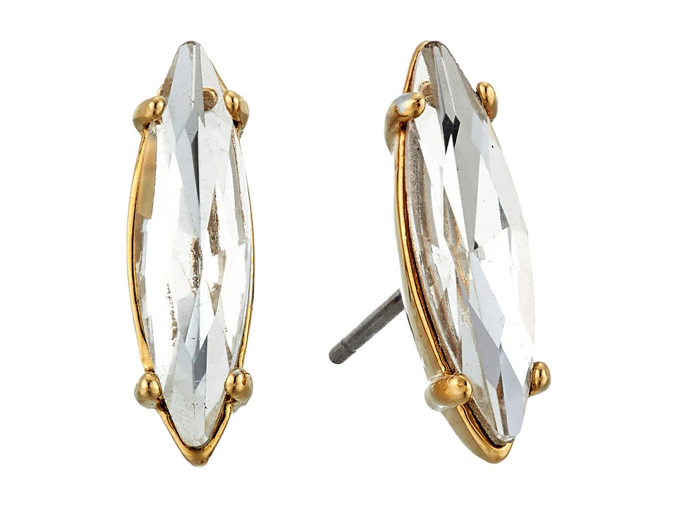 Rebecca Minkoff - Sparkler Stud Earrings (Gold/Crystal) Earring