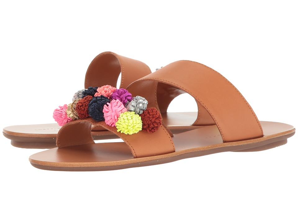 Loeffler Randall - Clem (Light Cuoio Vachetta/Multi Poms) Women's Shoes