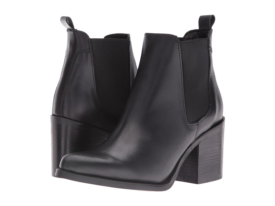 Steve Madden - Pistol (Black Leather) Women's Boots