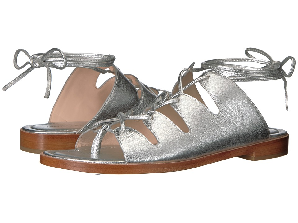 Loeffler Randall Kira (Silver Leather) Women