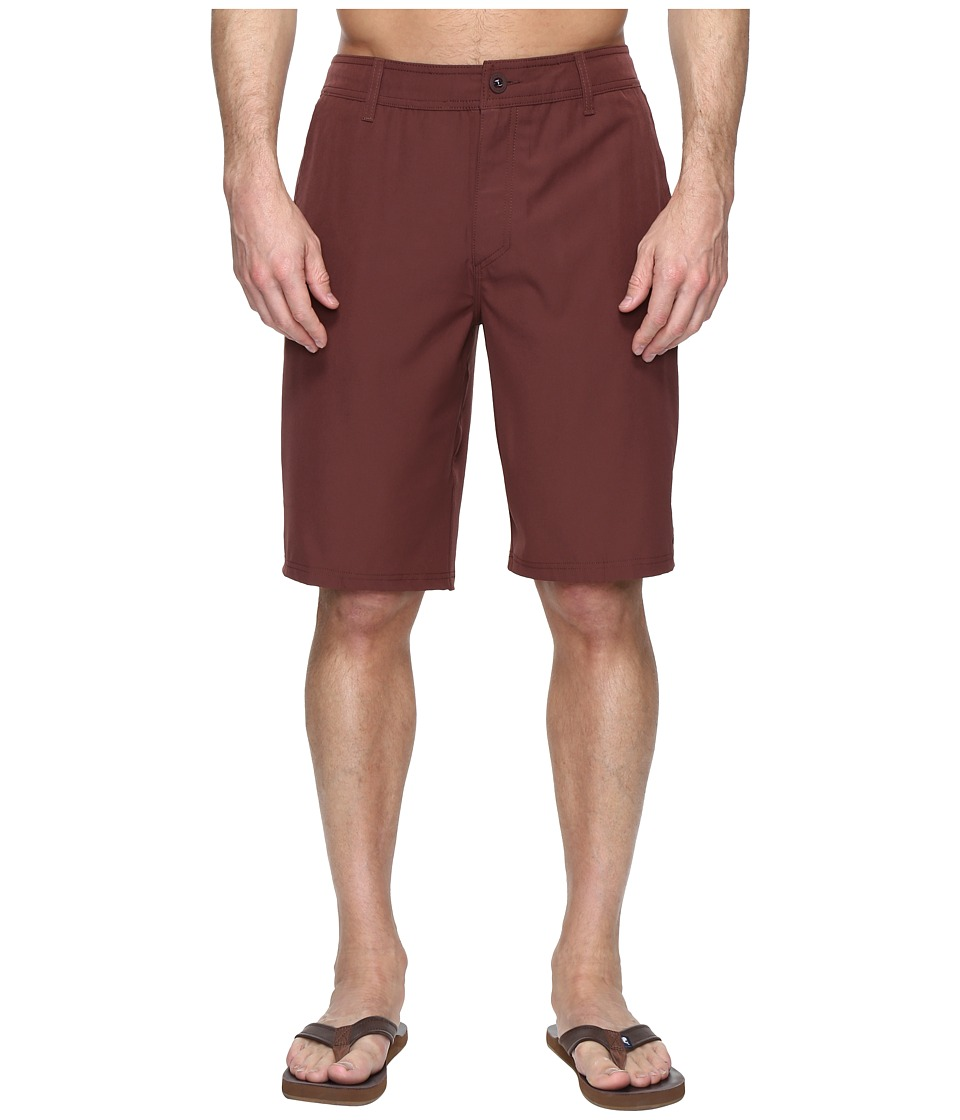 O'Neill - Loaded Hybrid Boardshorts (Burgundy Solid) Men's Swimwear