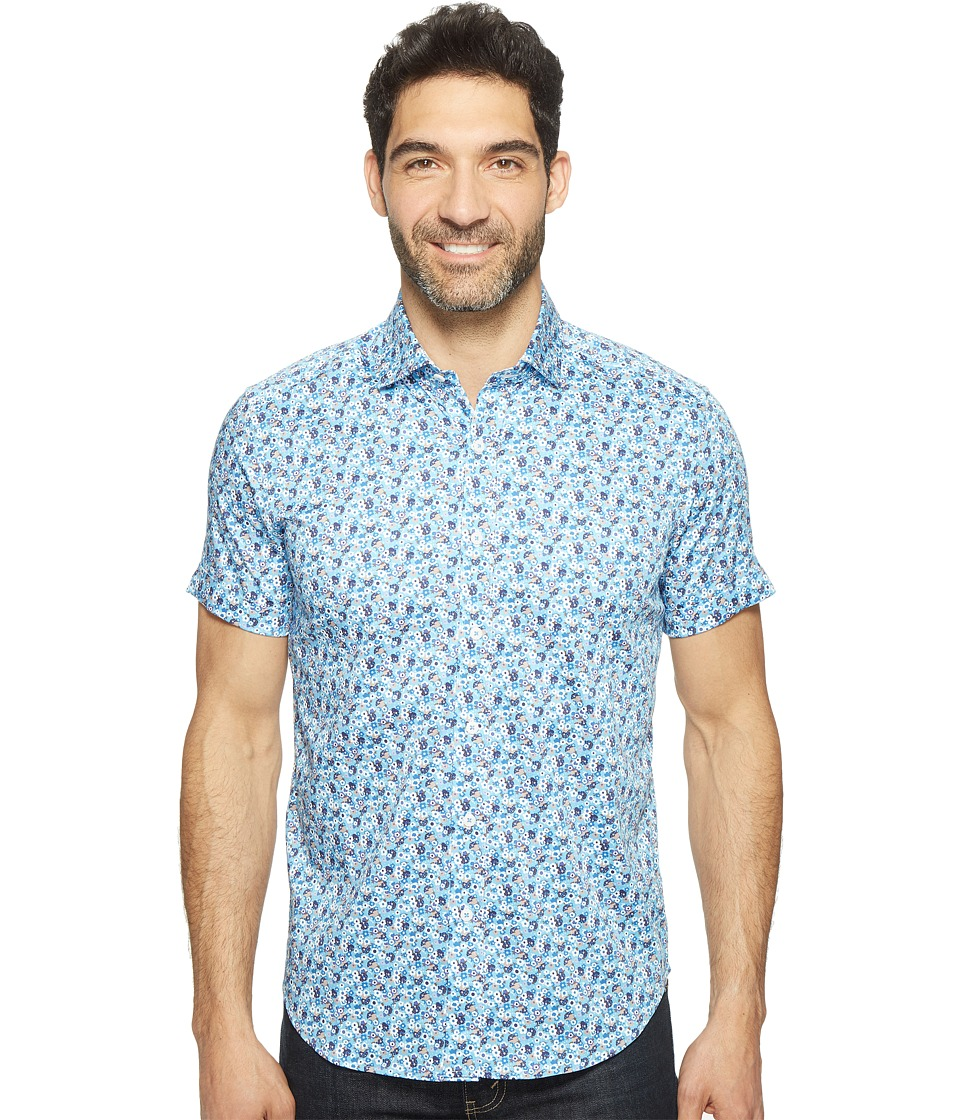 Robert Graham - Modern Americana Roman Shirt (Blue) Men's Clothing