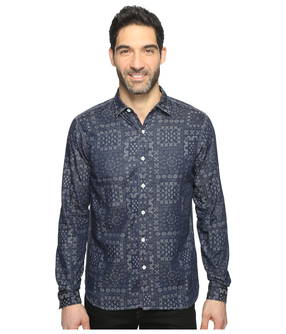 Robert Graham - Ajay Shirt (Indigo) Men's Clothing