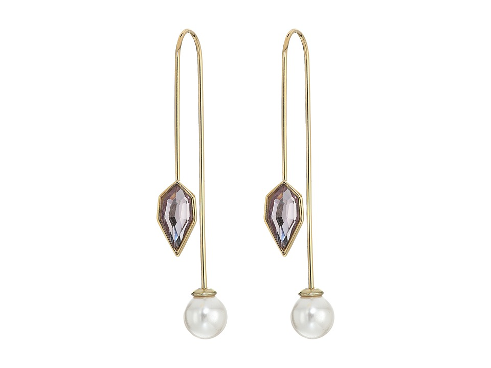 Rebecca Minkoff - Stone Mix Hardwire Threader Earrings (Gold/Rose) Earring
