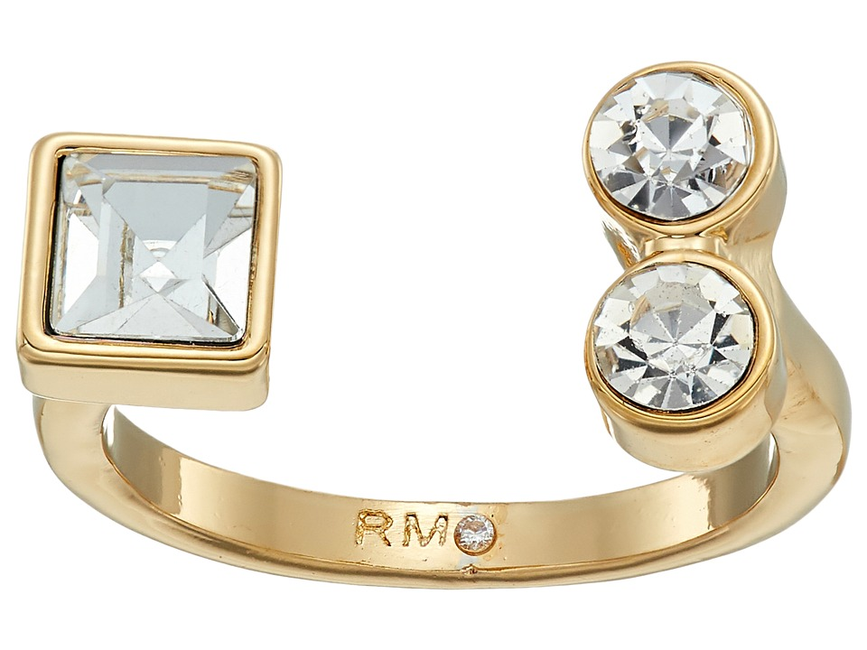 Rebecca Minkoff - Stone Mix U Ring (Crystal/Gold) Ring