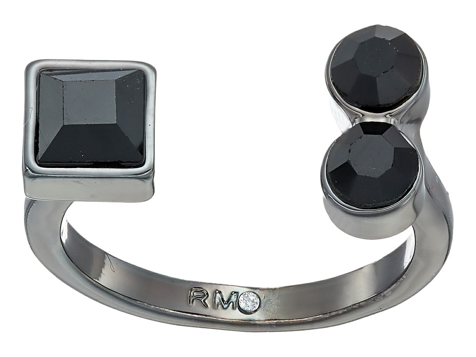 Rebecca Minkoff - Stone Mix U Ring (Gunmetal/Jet) Ring
