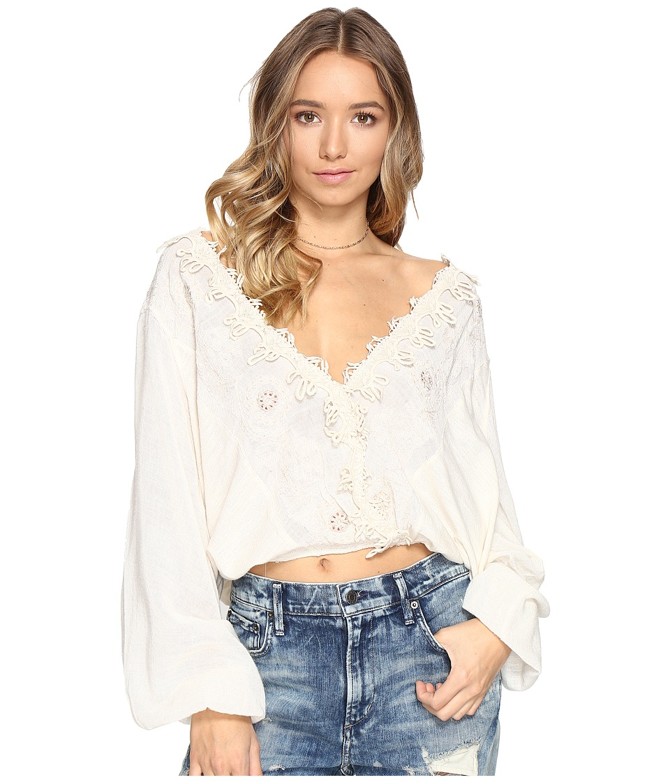 Free People - Desert Sands Top (Ivory) Women's Clothing