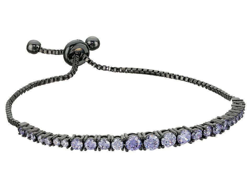 Rebecca Minkoff - Stone Mix Pulley Bracelet (Gunmetal/Lavender) Bracelet