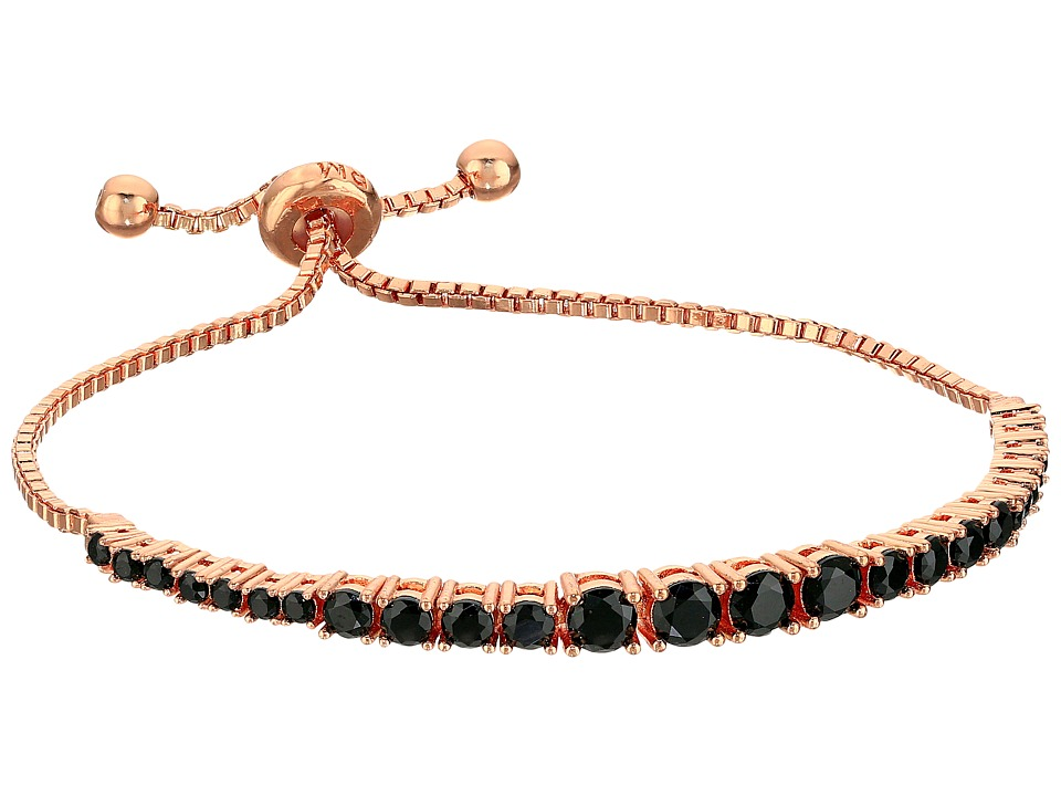 Rebecca Minkoff - Stone Mix Pulley Bracelet (Rose Gold/Black Diamond) Bracelet
