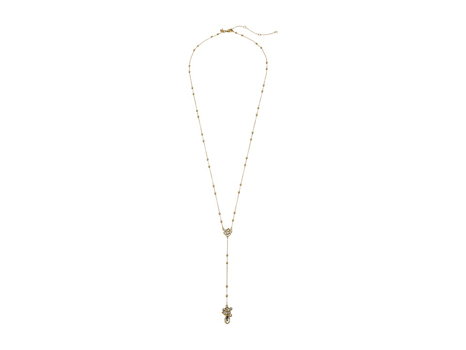 Rebecca Minkoff - Stone Mix Beaded Y Necklace (Gold/Crystal) Necklace