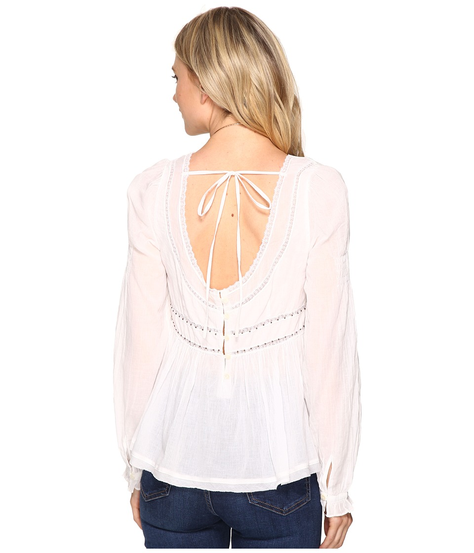 Free People - Strangers In Love Top (Ivory) Women's Clothing