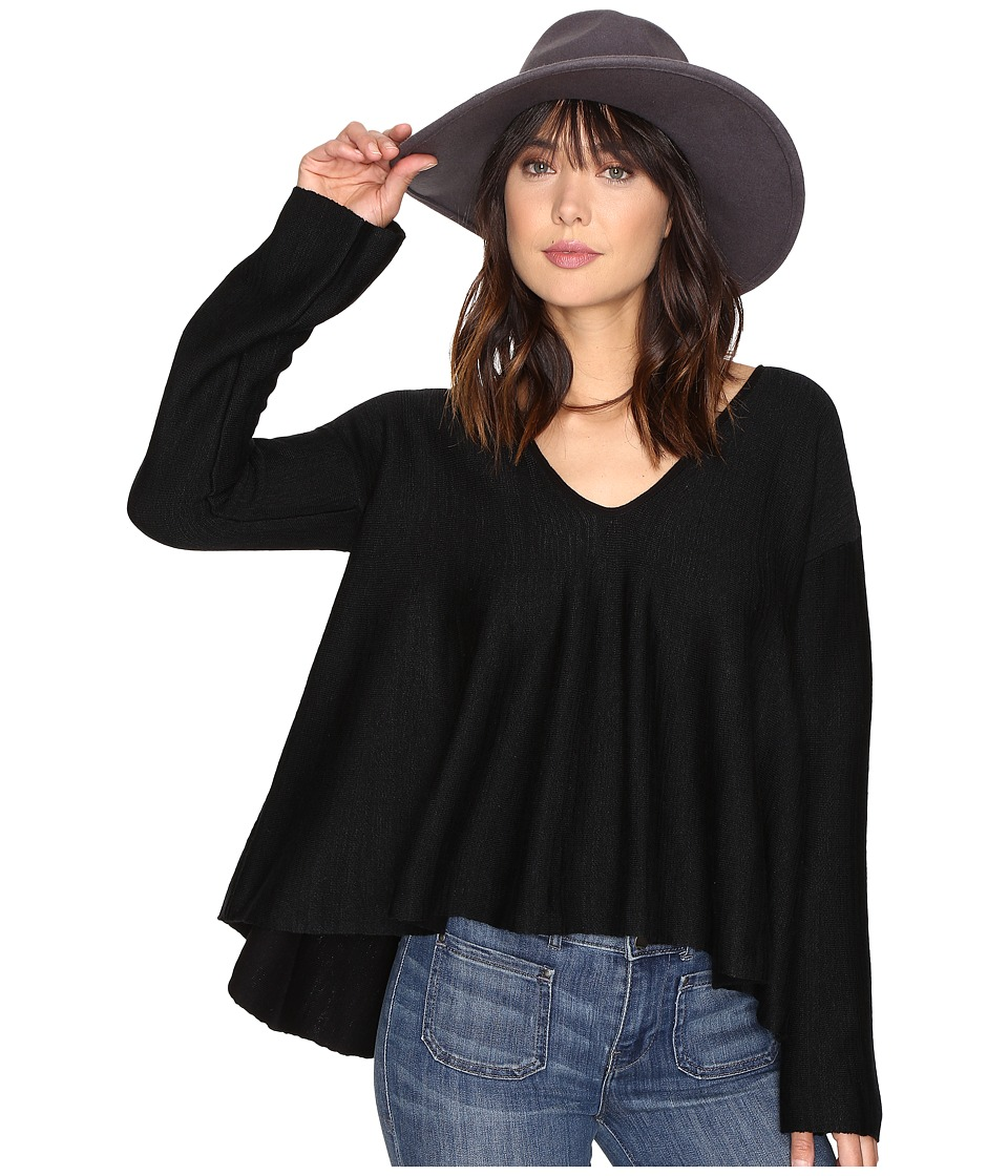 Free People - Sundae Pullover Sweater (Black) Women's Sweater