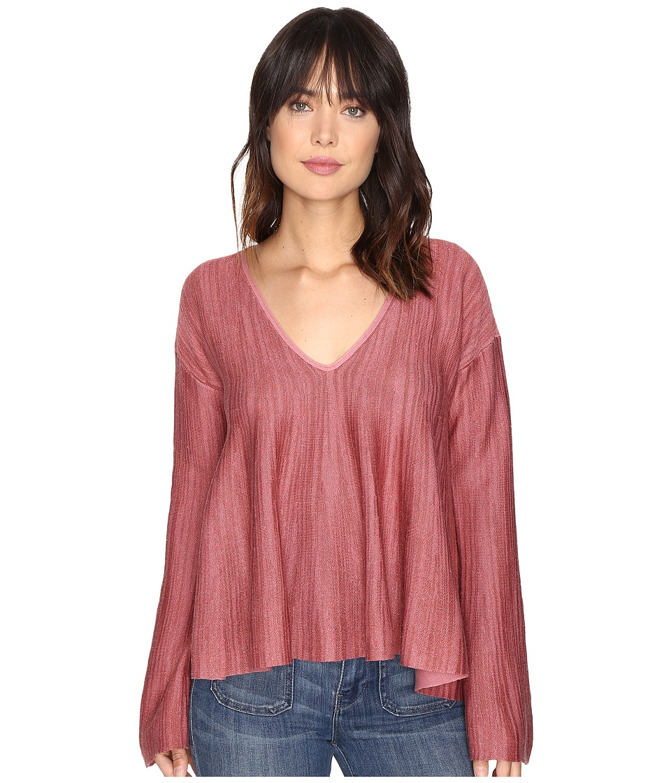 Free People - Sundae Pullover Sweater (Rose) Women's Sweater