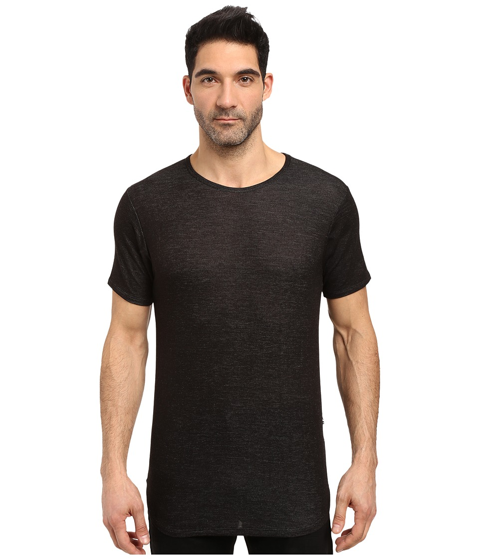 Rustic Dime - Heather French Terry Long Tee (Black) Men's T Shirt
