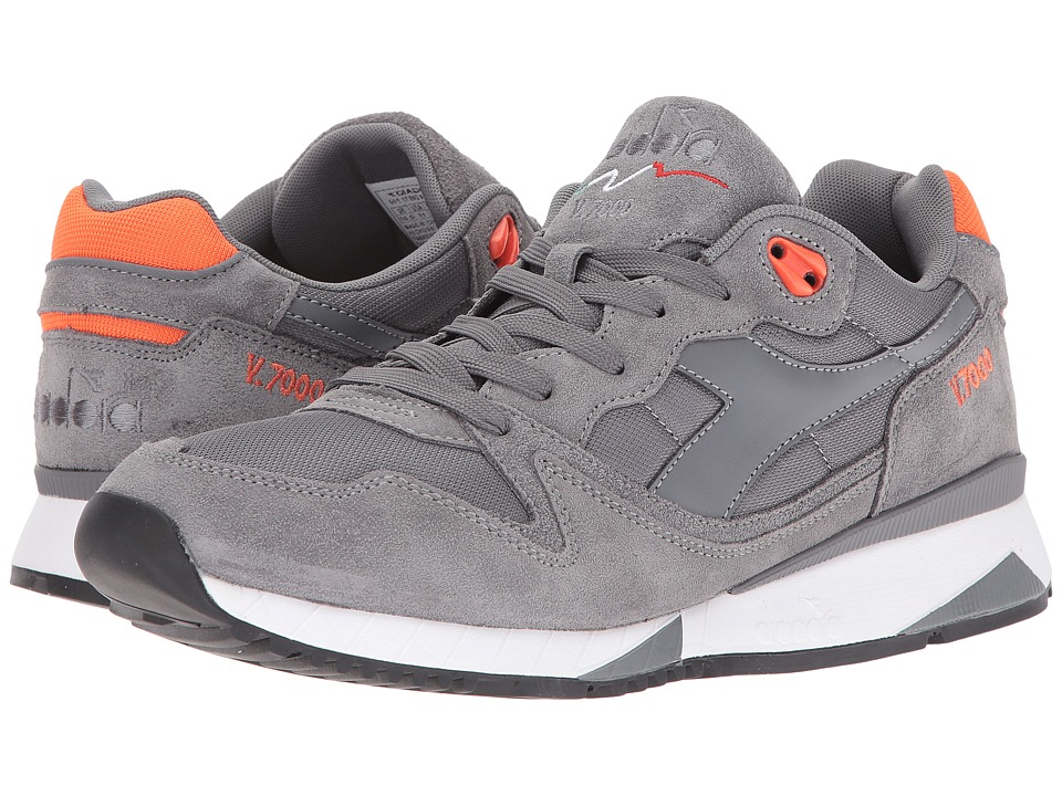 Diadora V7000 NYL II (Steel Grey/Vermilion Orange) Men