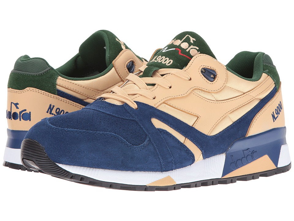 Diadora - N9000 Double L (Sand/Estate Blue/Greener Pastu) Men's Shoes
