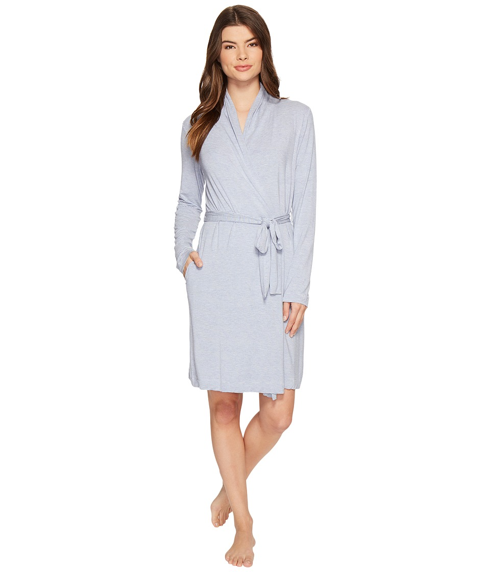 UGG - Birgette Stripe Robe (Moonstone) Women's Robe