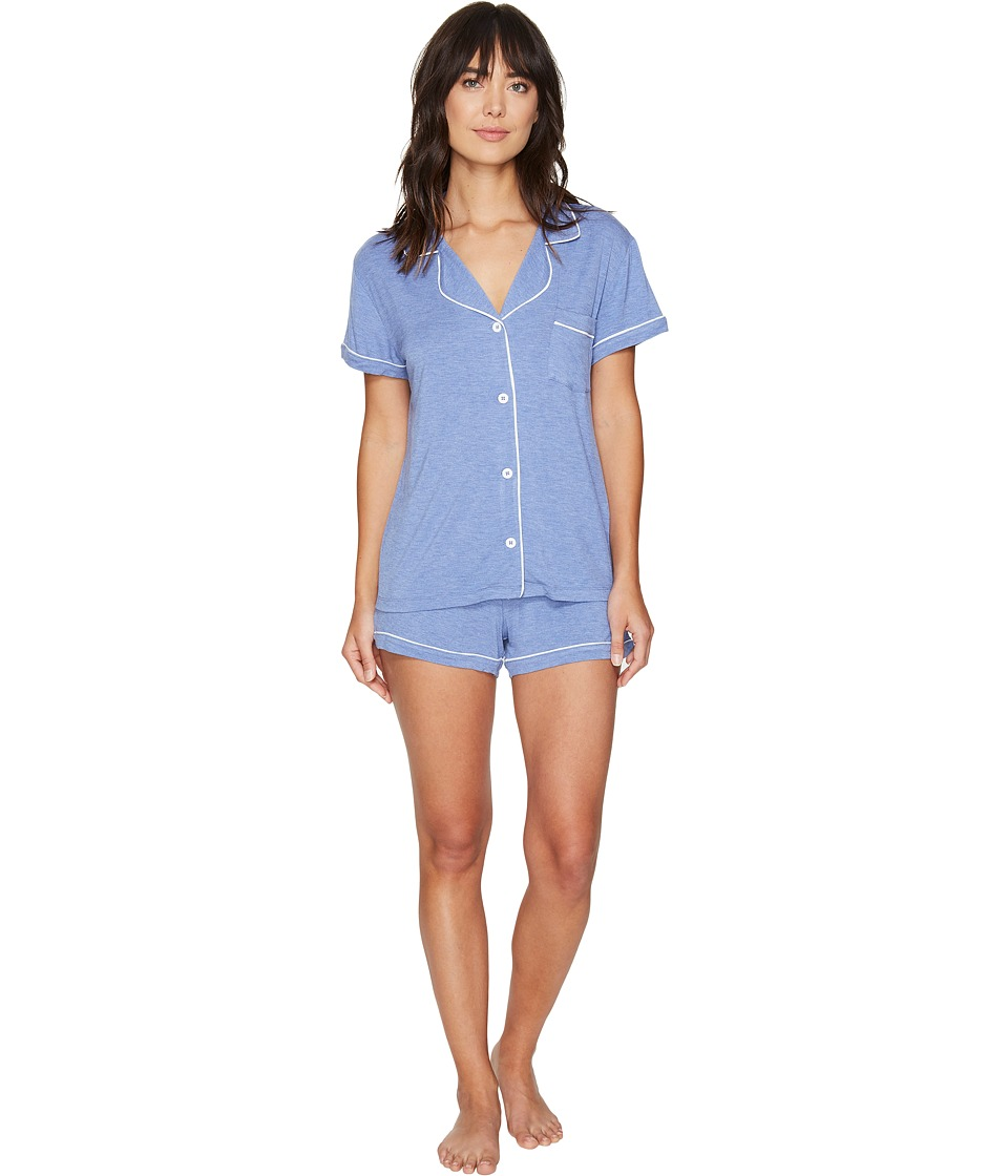 UGG - Josephine PJ Short Set (Moonstone Heather) Women's Pajama Sets
