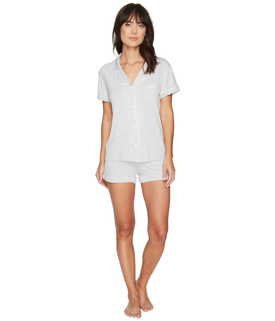 UGG - Josephine PJ Short Set (Seal Heather) Women's Pajama Sets