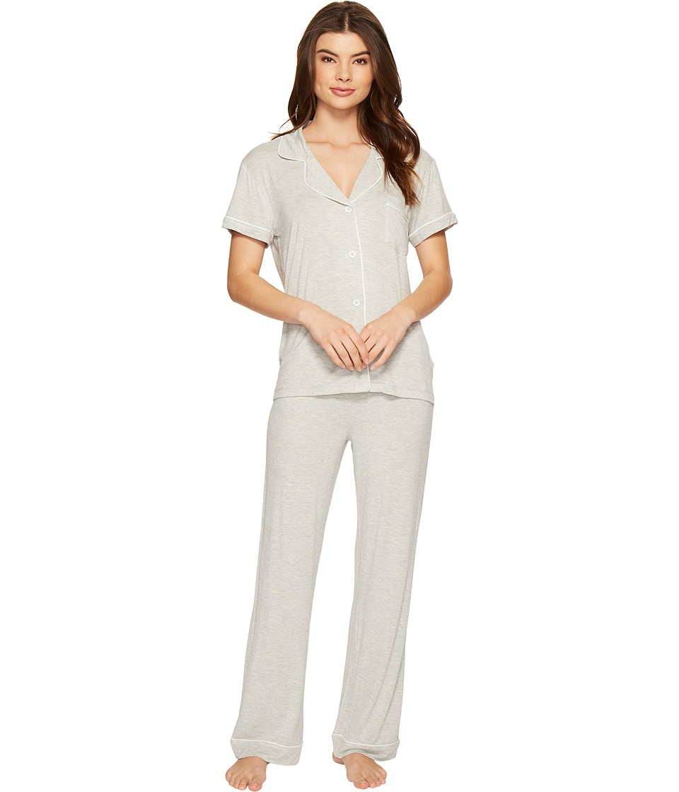 UGG - Reece PJ Set (Seal Heather) Women's Pajama Sets