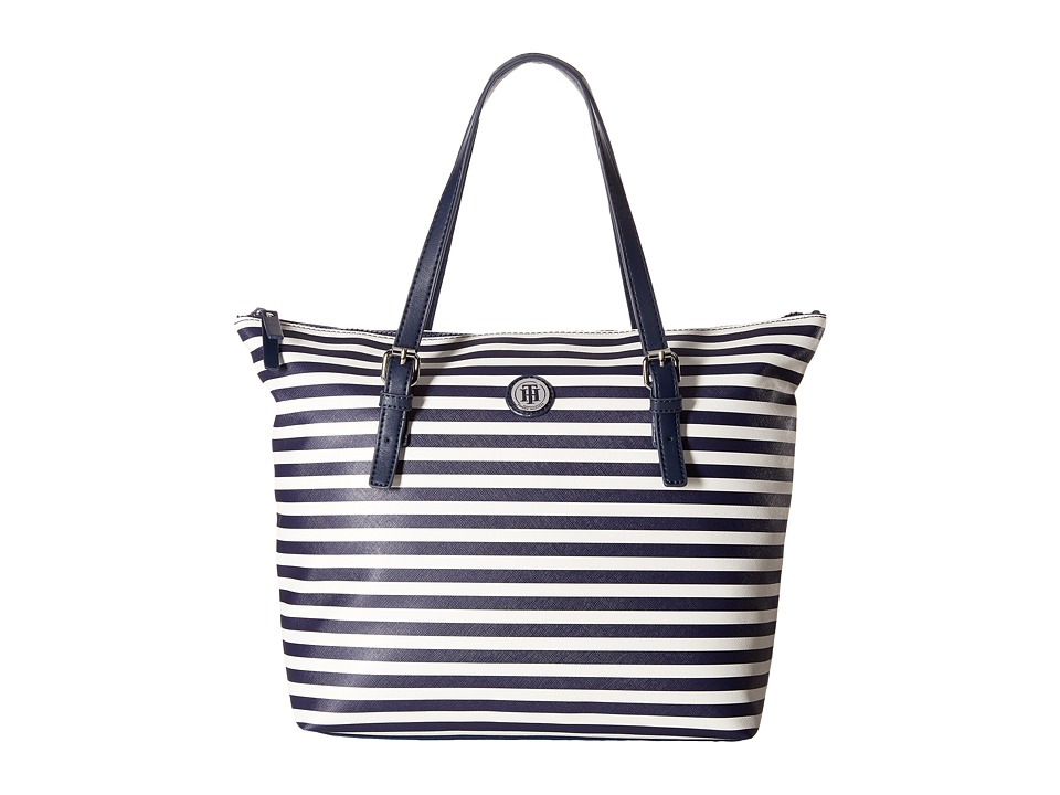 Tommy Hilfiger - Willow II Tote (Navy/Cream) Tote Handbags