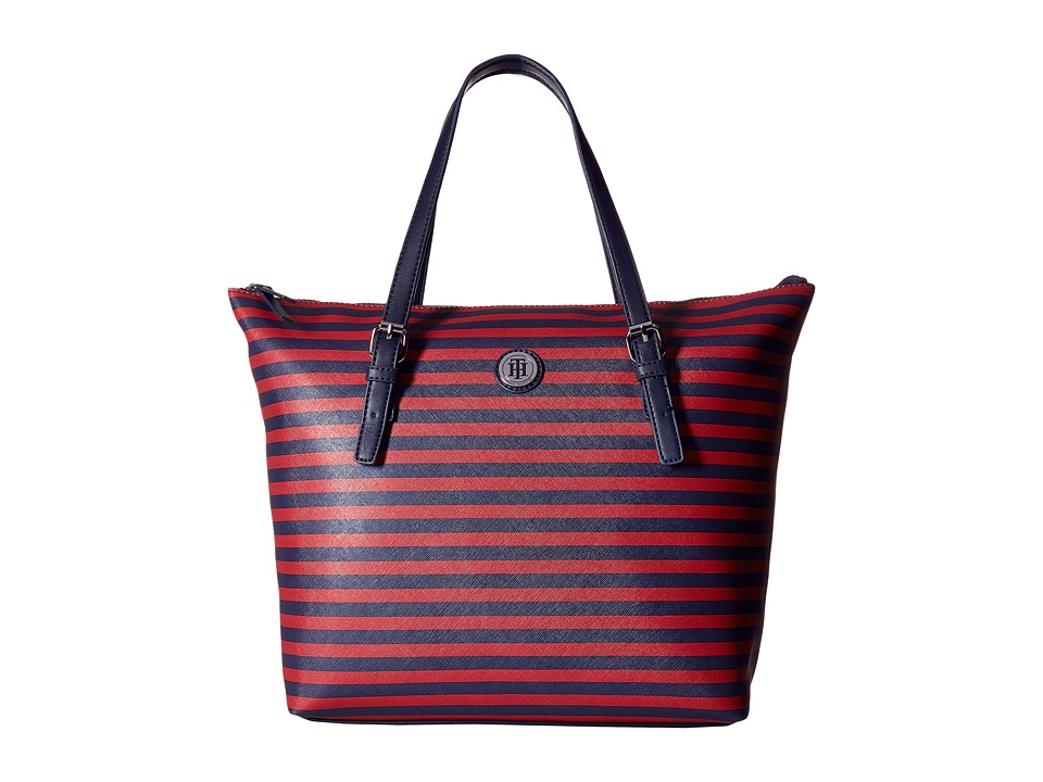 Tommy Hilfiger - Willow II Tote (Navy/Red) Tote Handbags