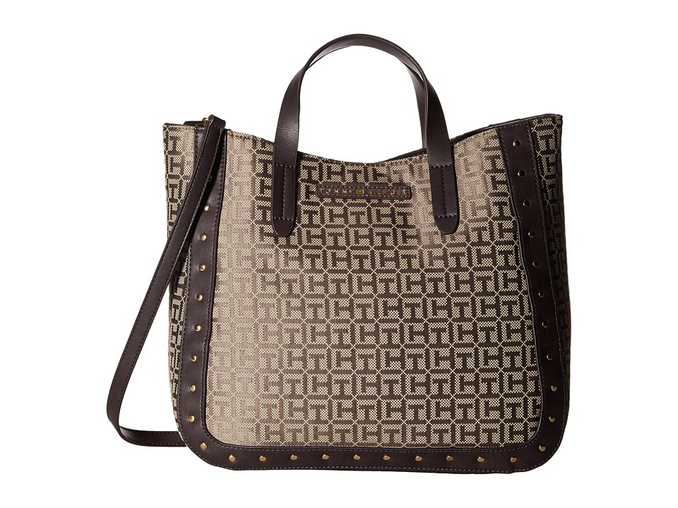 Tommy Hilfiger - Betty Convertible Tote (Tan/Dark Chocolate) Tote Handbags