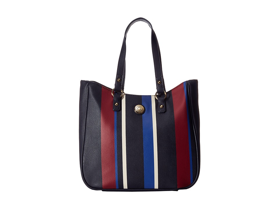 Tommy Hilfiger - Stripe Tote Item II (Navy Multi) Tote Handbags