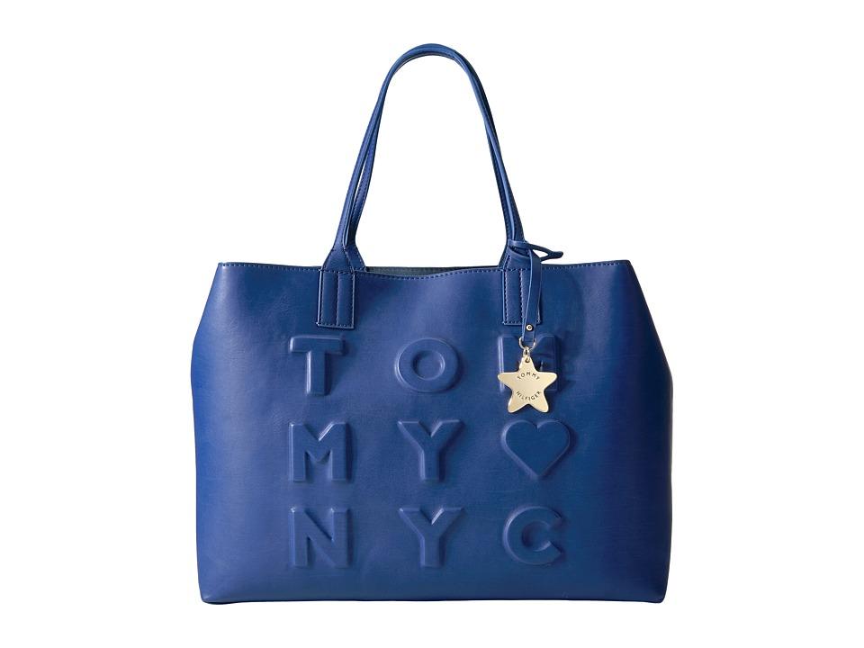 Tommy Hilfiger - Logo Story Tote Debossed (Cobalt) Tote Handbags