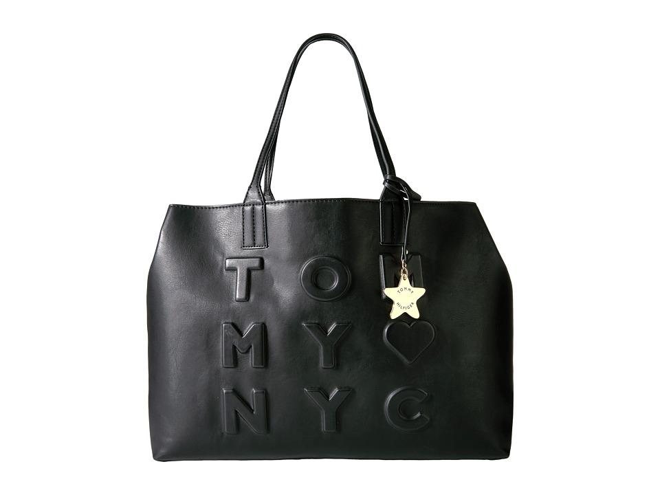 Tommy Hilfiger - Logo Story Tote Debossed (Black) Tote Handbags