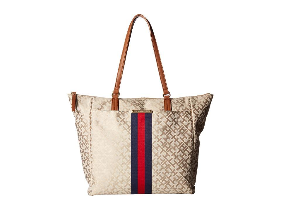 Tommy Hilfiger - Eve II Tote (Khaki/Tonal) Tote Handbags