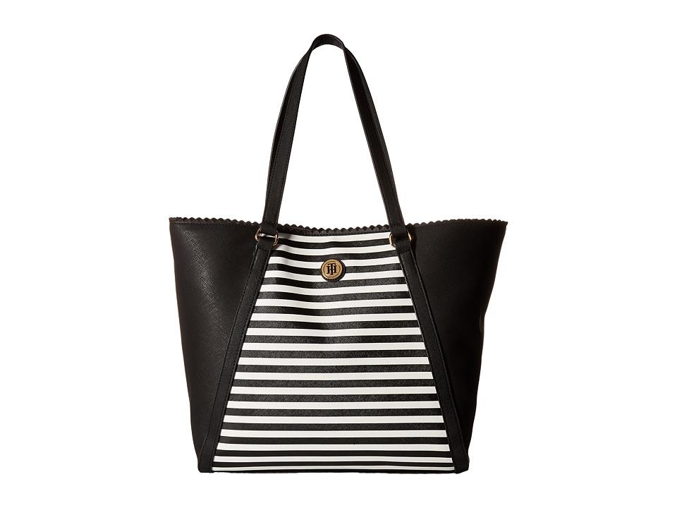 Tommy Hilfiger - Adaline II Tote (Black/Cream) Tote Handbags