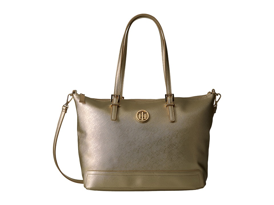 Tommy Hilfiger - Honey Convertible Tote (Gold) Tote Handbags