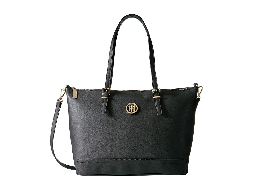 Tommy Hilfiger - Honey Convertible Tote (Black) Tote Handbags