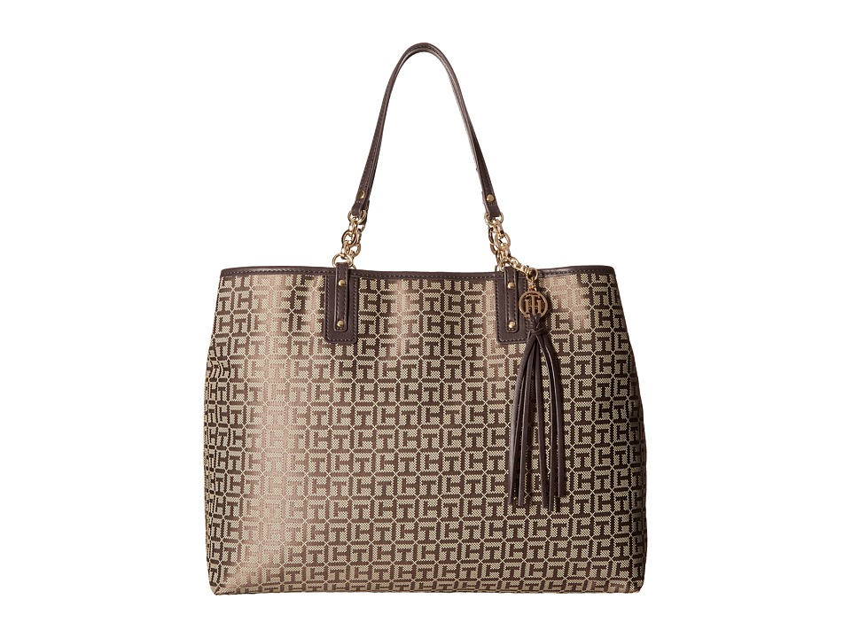 Tommy Hilfiger - Leila Tote (Tan/Dark Chocolate) Tote Handbags