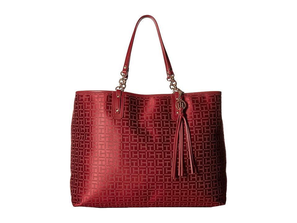 Tommy Hilfiger - Leila Tote (Dark Cherry Tonal) Tote Handbags