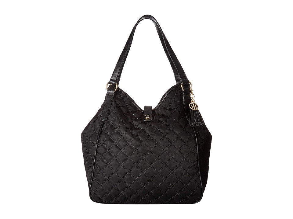 Tommy Hilfiger - Hazel Tote Quilt Nylon (Black) Tote Handbags
