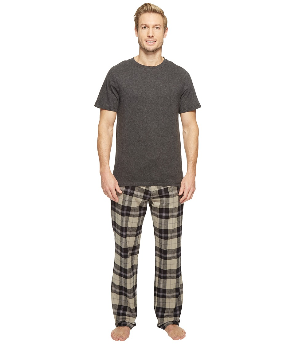 UGG - Grant Plaid PJ Set (Black Plaid) Men's Pajama Sets