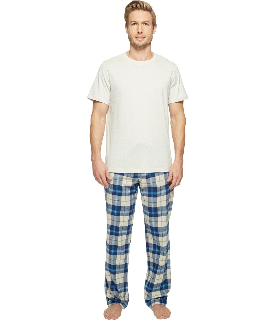 UGG - Grant Plaid PJ Set (Mid Grey/Petrol/Light Grey) Men's Pajama Sets