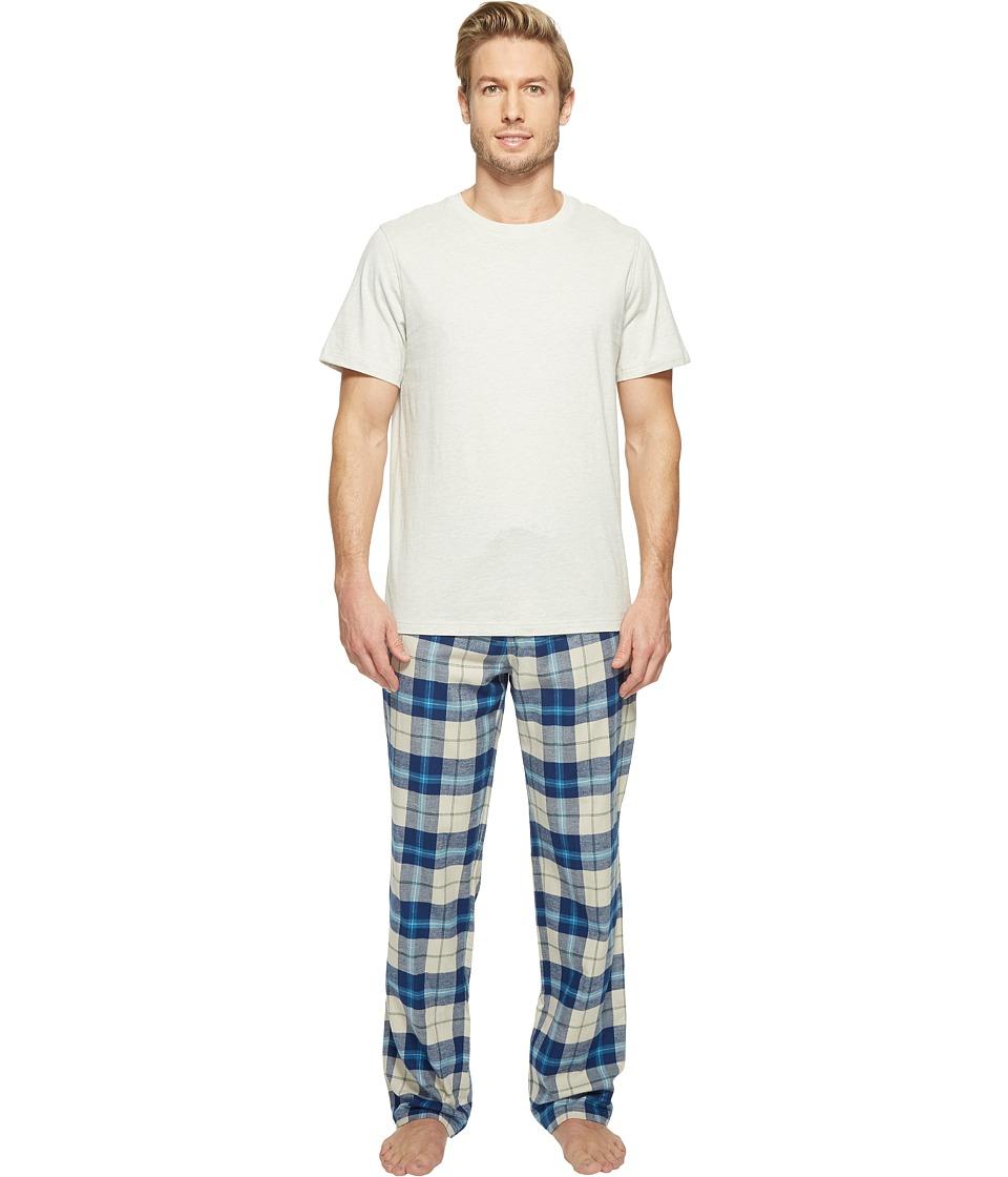 UGG - Grant Plaid PJ Set (Mid Grey/Petrol/Light Grey) Men's Pajama Sets