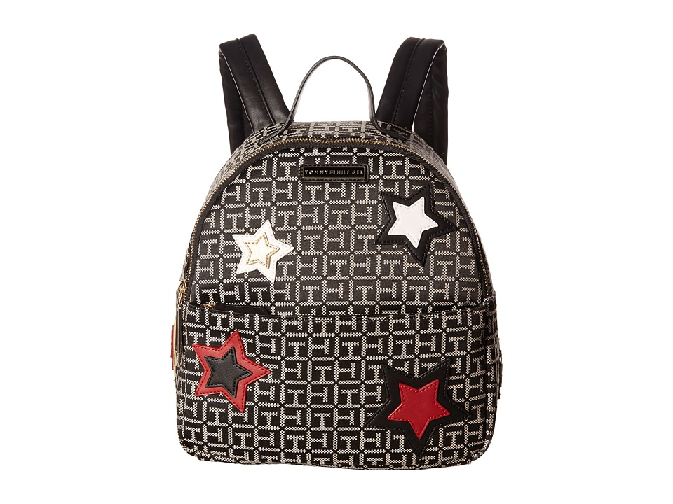 Tommy Hilfiger - Novelty Star Dome Backpack (Black/White) Backpack Bags