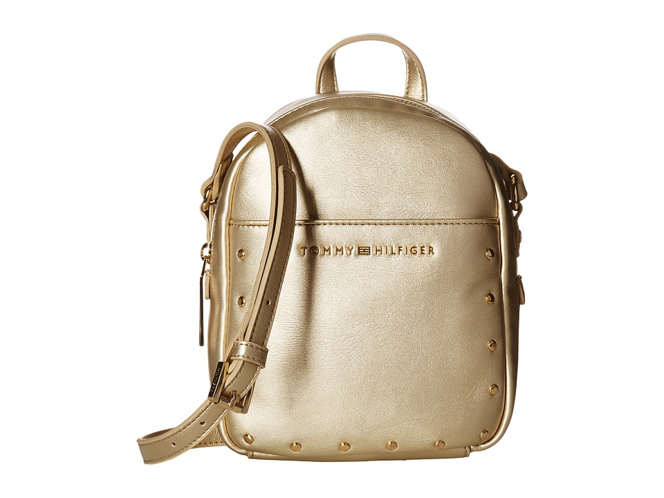 Tommy Hilfiger - Betty Mini Backpack Crossbody (Gold) Backpack Bags
