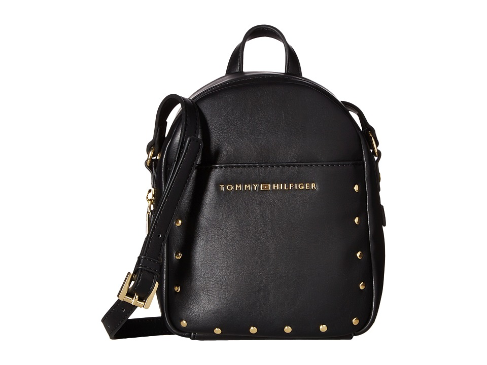Tommy Hilfiger - Betty Mini Backpack Crossbody (Black) Backpack Bags