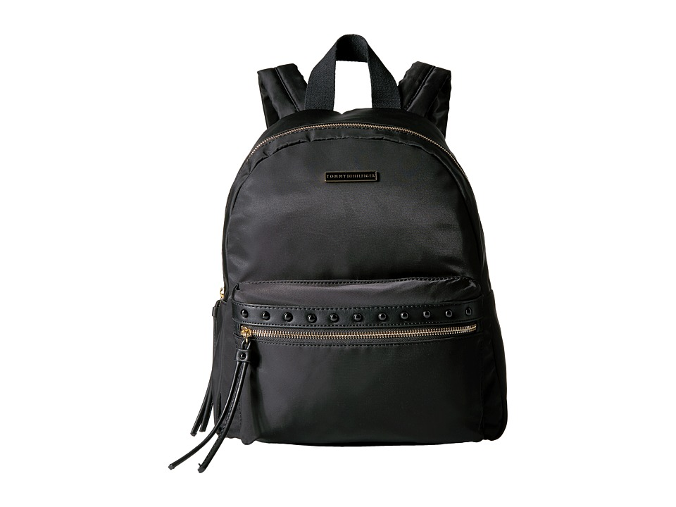 Tommy Hilfiger - Corinne Dome Backpack Nylon (Black) Backpack Bags
