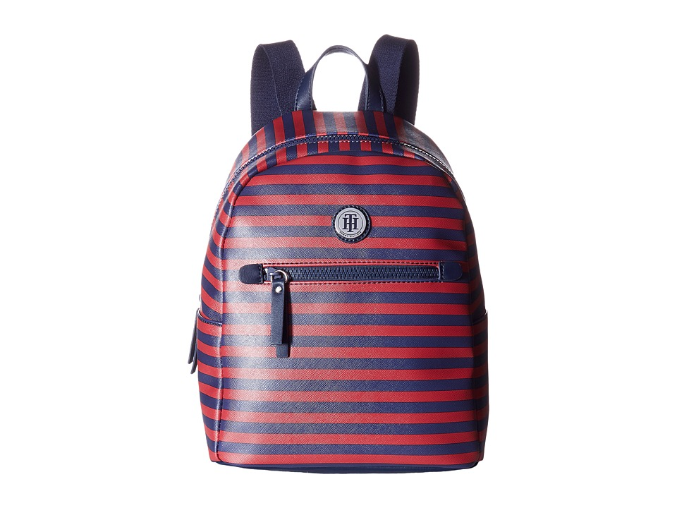 Tommy Hilfiger - Willow II Small Backpack (Navy/Red) Backpack Bags
