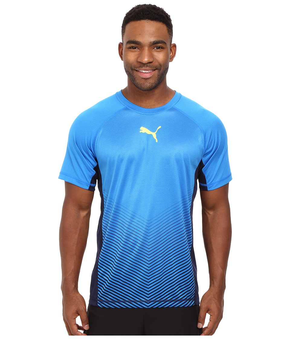 PUMA - Vent Short Sleeve Tee (Electric Blue Lemonade/Peacoat) Men's T Shirt