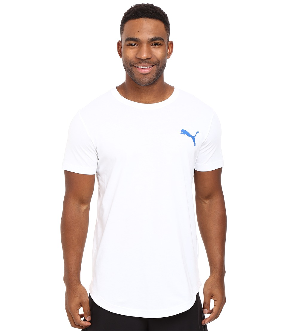 PUMA - Fluo Progressive Basic Tee (PUMA White) Men's T Shirt