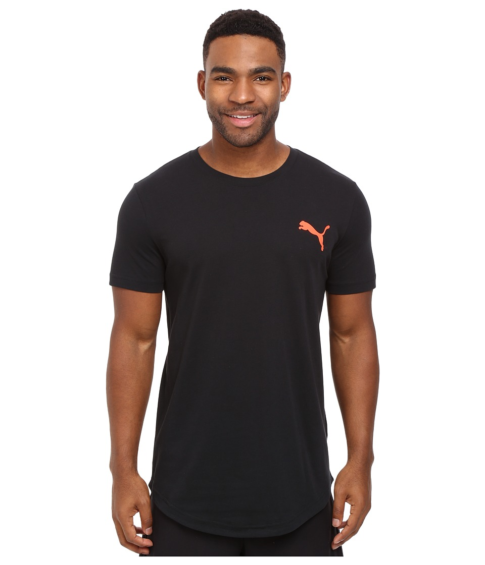 PUMA Fluo Progressive Basic Tee (PUMA Black) Men
