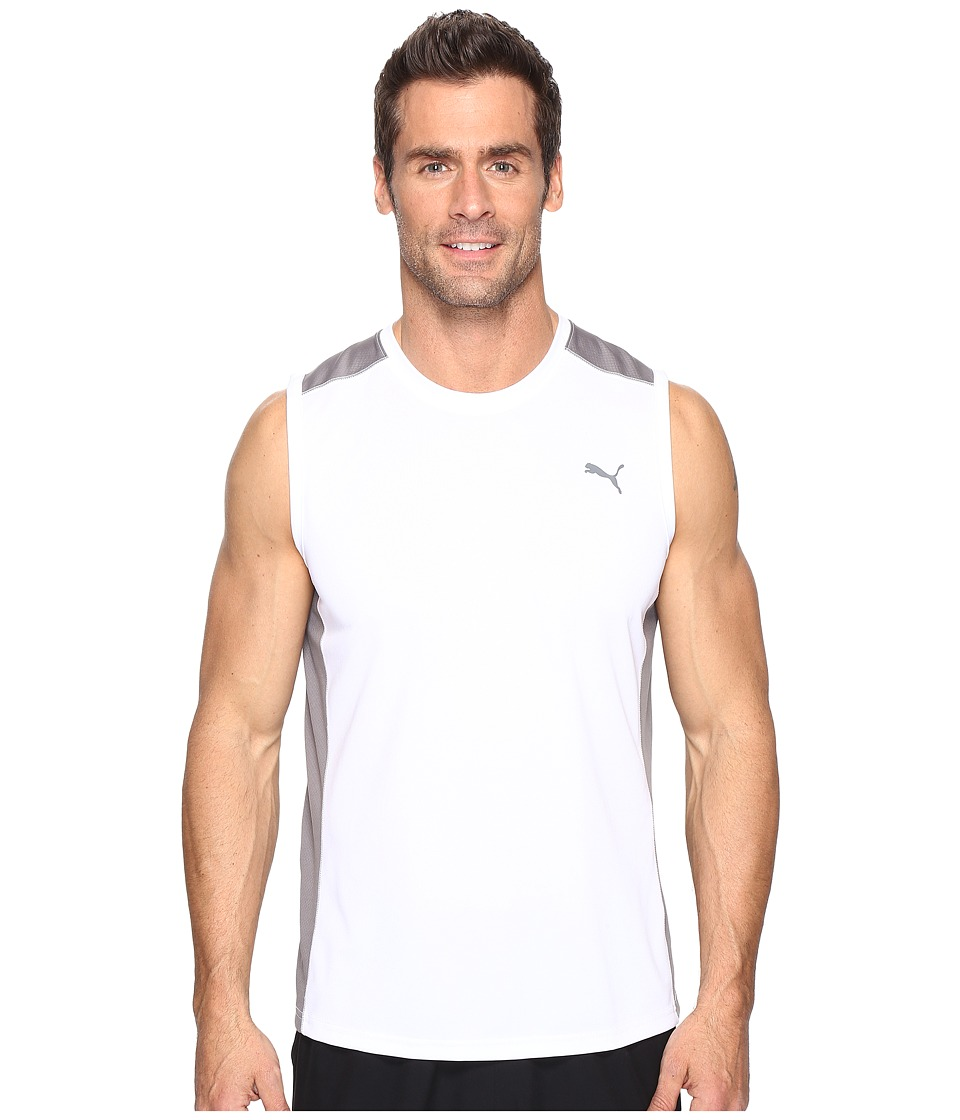 PUMA - StretchLight Training Tee (White/Smoked Pearl) Men's T Shirt