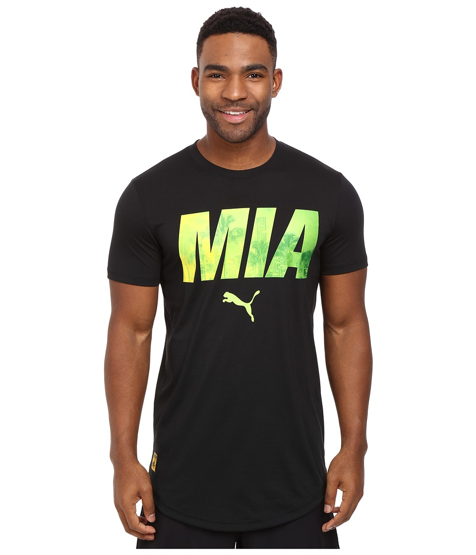 PUMA - MIA Progressive Tee (Black) Men's T Shirt